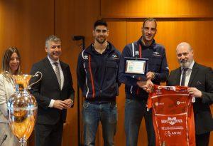 Gas Sales Volley premiata dal presidente dell'Emilia Romagna Bonaccini