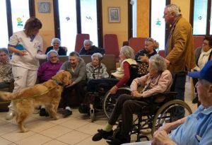 Pet therapy per gli anziani della residenza Fontanella: è partito il progetto