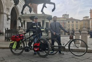 Diego e Massimo, da Piacenza a Rimini in bicicletta per la solidarietà