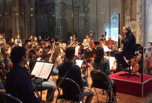 Riccardo Muti ai Teatini per la prova pubblica aperta con la Cherubini
