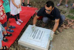 Nuova scuola di Roveleto, posata la prima pietra. Pronta nel settembre 2020
