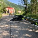 Motociclista cade a Marsaglia. Gravissimo incidente in autostrada