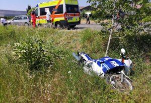 Frontale tra auto e moto a San Nazzaro, 73enne in gravi condizioni