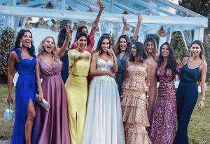 Melissa Satta alle nozze della ex di Allegri con il piacentino Braghieri