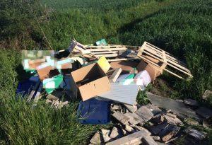 Bancali, bottiglie di plastica e pane: campi scambiati per discariche