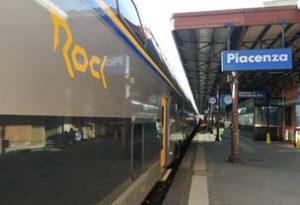 """E' partito da Piacenza il nuovo treno """"Rock"""" ultramoderno"""